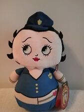 """Betty Boop Plush Doll Kelly Toy 2017 Police Officer Betty """"Oop A Doop"""" NEW"""