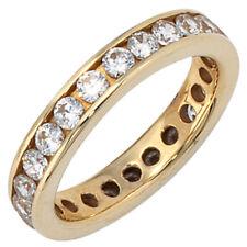 Damen Ring 333 Gold Gelbgold mit Zirkonia rundum Goldring