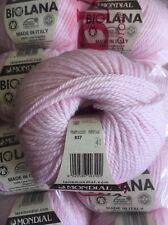 10 x 50 g mondial Bio Lana Bio Laine - 837 rose pâle-ARAN/peigné poids