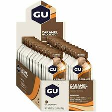 GU Energy Original Sports Nutrition Energy Gel, Caramel Macchiato, 24-Count Box