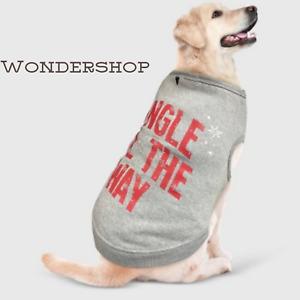 Wondershop Jingle All The Way Pet Sweatshirt Sweater Red Gray Size Medium