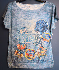 New Disney Parks DISNEYLAND Attractions MICKEY Burnout T-Shirt Tee Misses 3XL