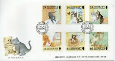 1996 Alderney Cats First Day Cover