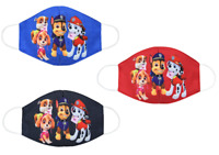 3 Pcs Kids Size Cartoon Paw Dog Patrol Rescue Cotton Mask Face Masks Mouth Cover