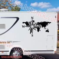 Pegatina de vinilo Mapa Del Mundo Rotular furgo caravana 4x4 (ENVIO 48H)
