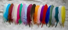 "10 Goose feathers 3""-7""- Free quick ship from CA! 25 different colors"