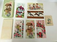 "6 Vintage Greeting Cards Envelopes All Occasion Embossed 3.5"" x 7"" Box Unused"