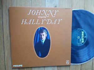 Johnny HALLYDAY : Johnny Chante Hallyday FRENCH LP PHILIPS B.77.746L BIEM  EX