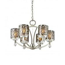 NEW Crystal Square 6 Retro Chandelier Brass Trans Globe Lighting 70116 AB