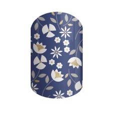 Perennial Blue, flowers, Jamberry Nail Wraps, Half Sheet