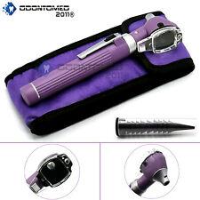 Fiber Optic Otoscope Mini Pocket Medical Ent Diagnostic Purple Set
