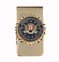 US UNITED STATES DEPARTMENT OF JUSTICE METAL BADGE MONEY CLIP-33895