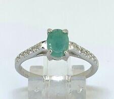 Smaragd Ring  Smaragd & Zirkonia  925er Silber      # 56