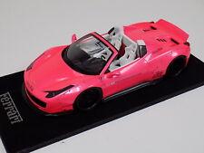 1/18 Ferrari 458 Spider Liberty Walk LB Performance in Gloss Pink  N BBR  MR