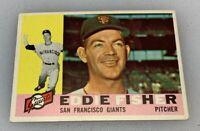1960 Topps # 23 Eddie Fisher San Francisco Giants Baseball Card