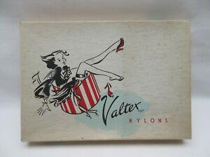 Vintage retro Valtex stockings nylons cardboard box empty