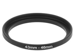43-49mm Metal Step Up Ring Lens Adapter 43 Male to 49 Female Thread – UK STOCK