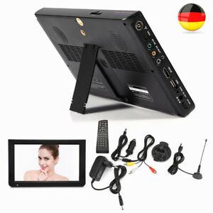 "10"" Tragbarer Fernseher Mini TV 1024*600 DVB-T/-T2 Camping für Auto Mediaplaye"