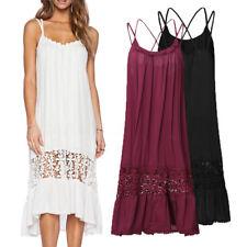 2017 AU 8-24 Women Plus Size Long Dress Summer Beach Evening Party Maxi Sundress