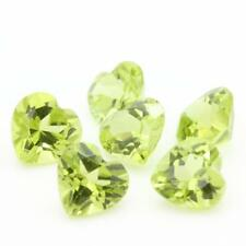 Green Peridot. Heart. IF-VVS1 (Sold per Unit) .Pakistan