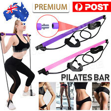 Yoga Pilates Stretch Rope Gym Stick Exercise Bar Pilates Trainer Rope Portable