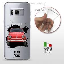 Samsung Galaxy S8 CASE COVER PROTETTIVA GEL TRASPARENTE VINTAGE Fiat 500 Crash