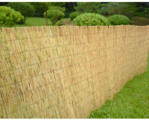 Natural Fence Garden Screening Roll Panel Outdoor Peeled Reed 4m Privacy Roll