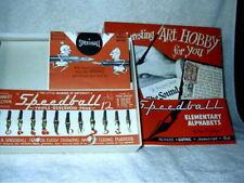 Vintage Hunt Speedball Lettering Set No. 2 12 Nibs & Pen Calligraphy USA