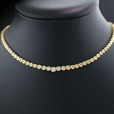 Reinheit SI Sehr gute Echte Diamanten-Halsketten & -Anhänger aus Gelbgold mit Brilliantschliff