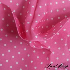NWT McNeal Made in Italy 100% Linen Bubblegum Pink Chalk Pois Spot Pocket Square