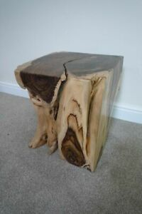 Hand Carved Solid Rosewood Stool - Heavy Stool - Unique Stool