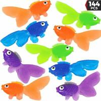 144 Vinyl Goldfish Bulk Toy Play Vending Carnival Prize Game, Party Favor,