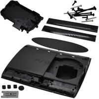 External Housing Chassis Body For PlayStation 3 Super Slim PS3 Replacement Black