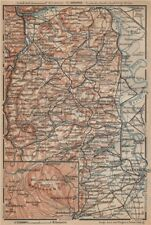RHEINHESSEN. RHENISH HESSE. Mainz Mannheim Worms Kreuznach. Germany 1903 map