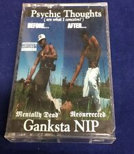 GANKSTA NIP  PSYCHIC THOUGHTS CASSETTE TAPE RARE RAP [PA] 1993