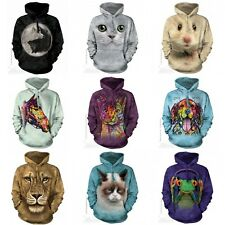 The Mountain Big Face Adult Animal Dog & Cat Hoodie New Dean Russo Designs UK