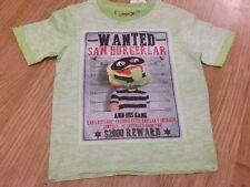 Brand New Size 9-12 Months Wanted Sam Burgerlar Lime T-Shirt