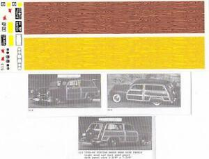 Fred Cady Decal #513 To Do The 50-60 Station Wagon Wood Side Panels