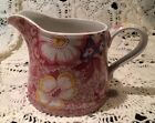 Spode FLORENCE S3672 pink floral & lace chintz 3.25 inch creamer pitcher EUC