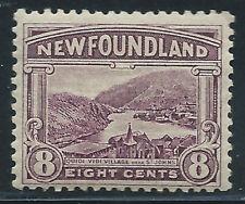 Newfoundland #137(1) 1923 8 cent dull violet QUIDI VIDI MNH CV$14.00