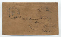 1850s Platte City MO 3 paid stampless to Utica Ohio [5246.159]
