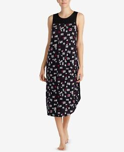 DKNY Contrast-Neck Sleeveless Chemise NEW W/ Tags $68 Size L