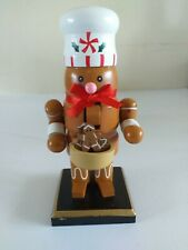 Clever Creations Wooden Chubby Gingerbread man / Nut Cracker new UK selller