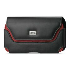 iPhone 11/Pro/Max Samsung Galaxy Note10+ Horizontal Leather Pouch Case Black/Red