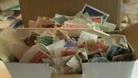 Small Box of Mixed Stamps - On & Off Paper - Australia Incl Pre-Decimal & World