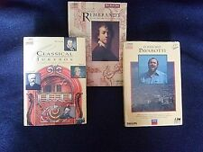 3 Classical Music Compact Disc Interactive for use on CD-1 Player-Pavarotti, etc
