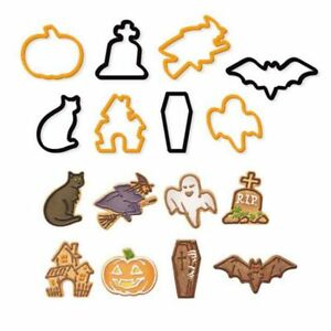 8 Pack Halloween Shaped Cookie Cutters Cake Clay Fondant Fondant Biscuit Pastry