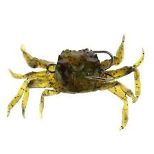 GREEN 3D SOFT PLASTIC CRAB SURF FISHING SALTWATER LURE HOOK TACKLE ACCESSORY