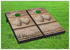 VINYL WRAPS Cornhole Boards DECALS Wood Love Hearts  BagToss Game Stickers 413