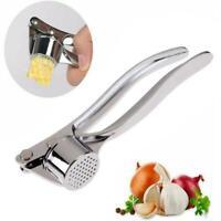 Stainless Steel Garlic Press Crusher Meat Grinder Chopper Peeler Squeeze Kitchen